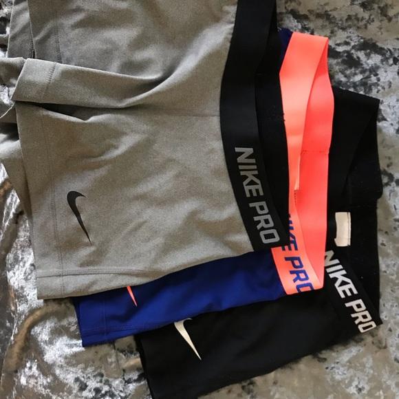 Nike Pants - 3-Pack Nike Pro spandex